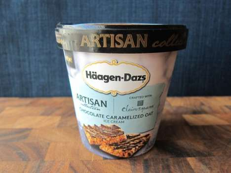 Caramel Oatmeal Ice Creams - The Haagen-Dazs Gourmet Ice Cream Features Chocolate Oat Clusters
