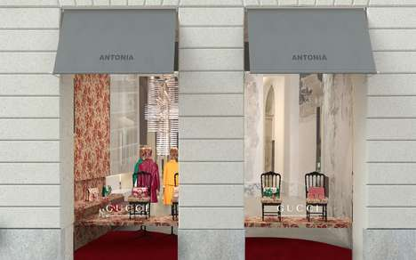 Bespoke Floral Retail Spaces - This Gucci Cruise Display is Exclusive to Milan's Antonia Boutique