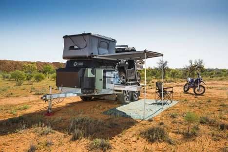 Boat-Loading Camping Trailers - The Patriot Toy Hauler 610 Lets You Take Your Boat and Dirt Bike