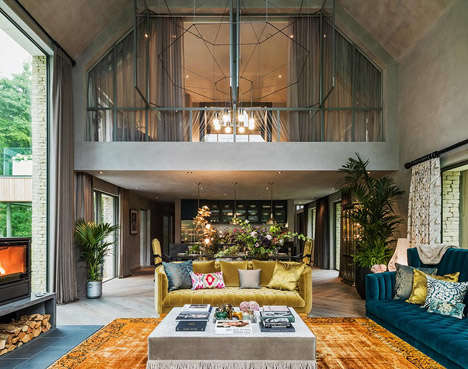 Supermodel-Selected Interior Designs - This Countryside Home Was Designed by Model Kate Moss