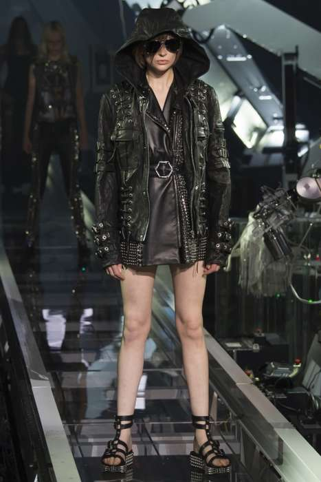 Maximalist Punk Couture - This Philipp Plein Spring/Summer Collection Offers an Array of Edgy Looks