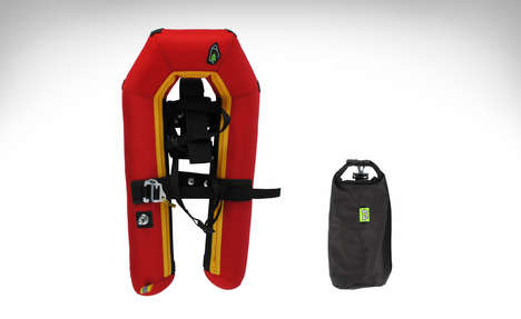 Compact Arctic Footwear - Small Foot Pocket Snowshoes Are Small Enough to Carry Anywhere