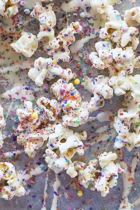 Sprinkled Cinema Snacks - This Birthday Cake Popcorn Provides the Perfect Blend of Sweet and Salty