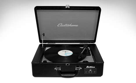 Suitcase Turntables - The Electrohome Archer Turntable Features a Sleek Design and Modern Data Ports