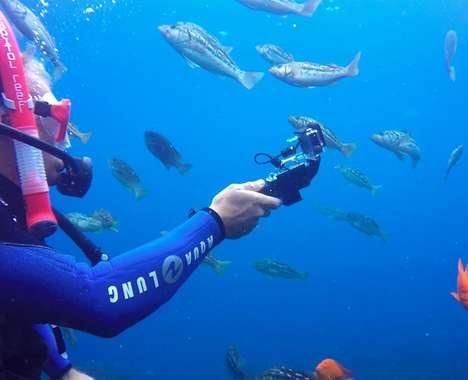 Underwater Charging Selfie Sticks