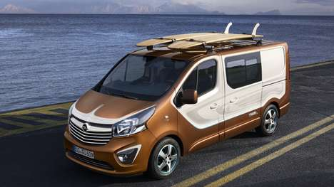 Versatile Hauling Vans - The Opel Vivaro Surf Concept Able Hauls Gear and People