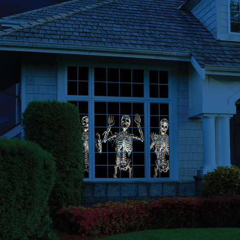 Haunting Holiday Projectors - The WindowFX Projector Brings Your Front Window to Eerie Life