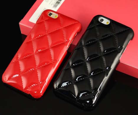 High Fashion Phone Cases - This Luxury Plaid Leather iPhone Case is Inspired by Handbags