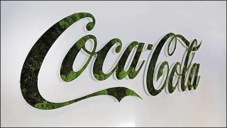 Remixed Plant Logos - This Company Recreated Iconic Brand Logos Using Lush Green Foliage