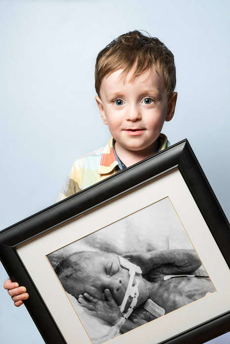 Post Premature Baby Portraits - These Images by Red Methot Show Before and After Premature Births