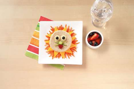 Picturesque Kid's Sandwiches - This Lunch Art Hopes to Entice Children to Eat Healthier Meals