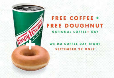 Celebratory Coffee Giveaways - Krispy Kreme is Handing Out Free Goodies for National Coffee Day