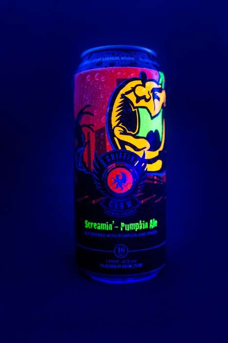 Glowing Halloween Beers - This Seasonal Pumpkin Ale is Packaged in a Glow-in-the-Dark Can
