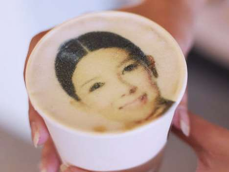 Selfie-Printing Coffee Machines - This Company Uses Edible Ink to Print Photos on Customer's Drinks