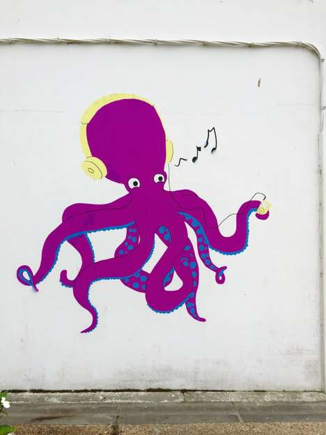 Sea Creature Street Art - These Wall Art Images of Sea Animals Celebrates a Seaside Town