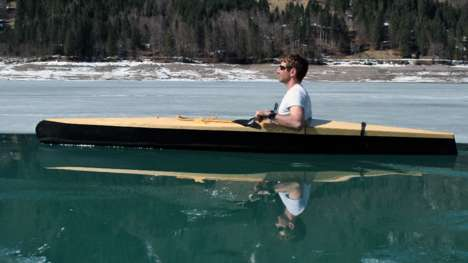 Collapsible Modular Kayaks - The Boner Kayak Breaks Down For Easy Transportation