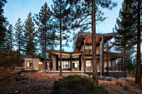 Contemporary Rustic Homes - This Secluded Wildnerness Home Features Touches of Modern Design