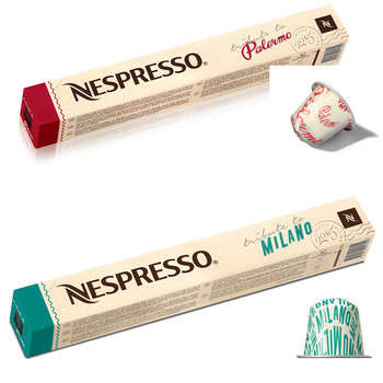 Italian-Honoring Coffee Pods - The Limited-Edition Nespresso Pods Feature Milano & Palermo Tributes