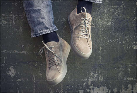 Stylish Scandinavian Sneakers - The CQP Tarmac Shoe is Crafted in Portugal from Italian Suede