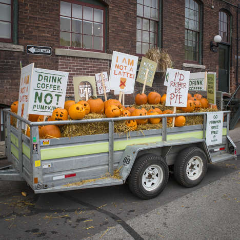 Pumpkin-Themed Coffee Protests - Nabob is Staging a Cheeky Protest for International Coffee Day