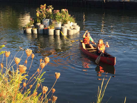 Sustainable Floating Gardens - This Floating Island is Designed to Clean a Polluted Waterway