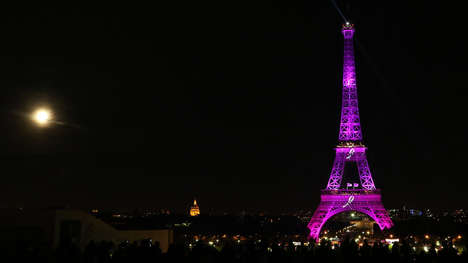 Illuminating Iconic Buildings - The Eiffel Tower Will Glow in Pink for Breast Cancer Awareness Month