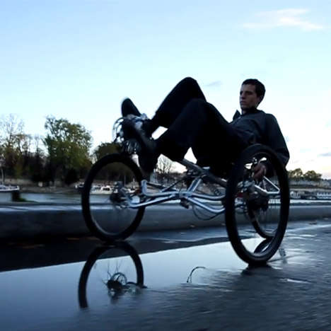 Leaning Kinetic Tricycles - This Recumbent Tricycle Can Be Directed by Simply Leaning Left or Right