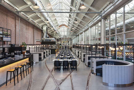Transformed Repair Shop Restaurants - The 'Meat West' Restaurant Used to Be a Tram Repair Depot