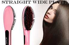 Hair Brush Straighteners