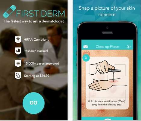 45 Medicinal Skincare Innovations - From Pocket Dermatology Apps to Temperature-Tracking Tattoos
