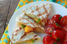 Cheesy Peach Quesadillas - This Mexican-Inspired Peach Recipe Incorporates Creamy Fontina Cheese