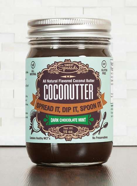 Minty Sandwich Spreads - This Organic Coconut Butter Tastes Like Mint Chocolate