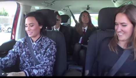 Celebrity Carpool Interviews - BBC Radio 1's Demi Lovato Interview Involved a Surprise School Run