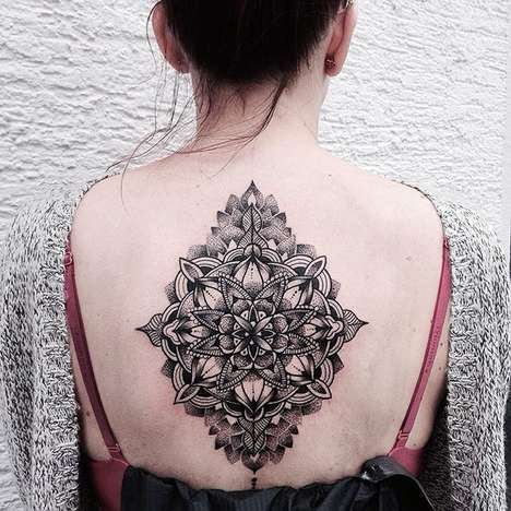 Intricate Mandala Tattoos - These Complex Patterned Tattoos are Composed of Thousands of Fine Lines