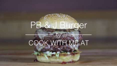 Peanut Butter Burgers - This PB & J Burger from 'Cook with Meat' is a Savory-Sweet Creation