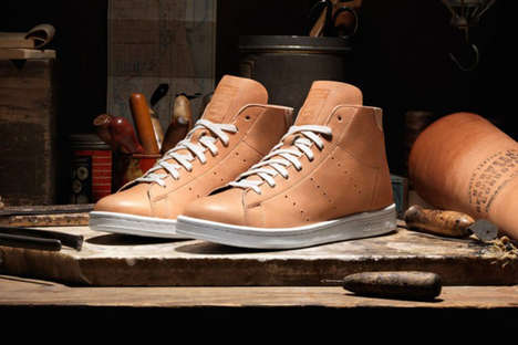 Upscale Sneaker Hybrids - These Horween Leather Adidas Sneakers Can Be Worn with a Suit