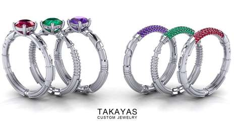 Intergalactic Weaponry Rings - Designed by Takayas Mizuno, These Rings Are Inspired by Lightsabers