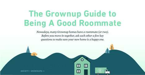 Grownup Roommate Guidelines - This Infographic Lists Questions and Explains Being a Good Roommate