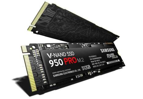 Miniature Computer Drives - The Samsung 950 Pro is an Impossibly Small Solid State Drive