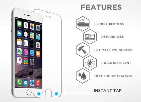 Button-Embedded Screen Protectors - Armorz TAP Puts a Back and Forward Button on Your iPhone
