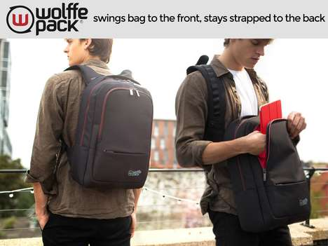 Orbital Travel Backpacks - The Wolffepack Improves Travel with a Revolutionary Swinging System