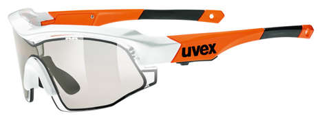 Tint-Changing Sunglasses - Uvex Variotronic Sports Shield Sunglasses Go From Dark to Light Fast