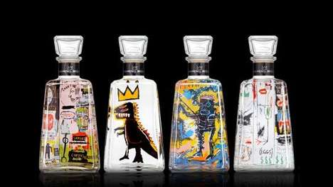 Graffitied Liquor Designs - These Liquor Bottle Designs Feature the Works of Popular Street Artists