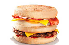 Breakfast Burger Hybrids - Burger King New Zealand Added a Decadent Breakfast Sandwich to Its Menu