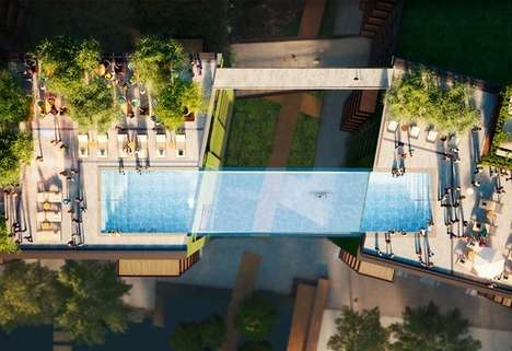 Floating Sky Pools - The Embassy Gardens SkyPool Will Appear to Float Ten Storeys Above Ground
