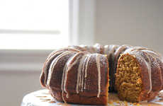 Pumpkin Bunt Cakes - This Seasonal Fall Cake Recipe Features a Spicy Cinnamon Glaze