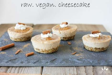 No-Bake Churro Cheesecakes - This Raw Vegan Cheesecake Recipe is Dairy-Free and Requires No Baking
