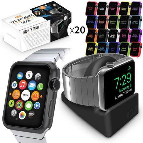 Stylish Smartwatch Accessories - The Orzly ULTIMATE PACK Comes With a Dock and 20 Faceplates