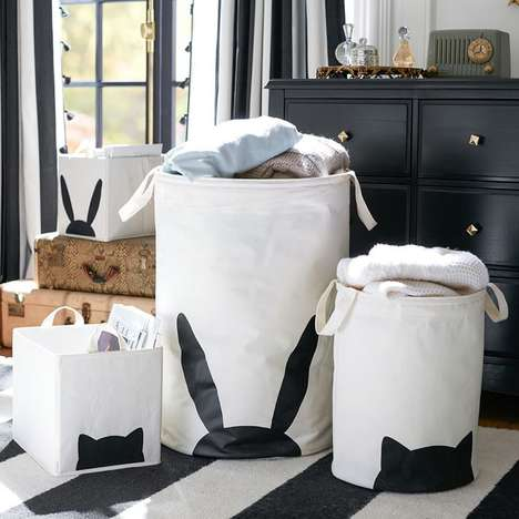 Whimsical Storage Equipment - These Emily + Meritt Storage Bins Provide a Touch of Playfulness