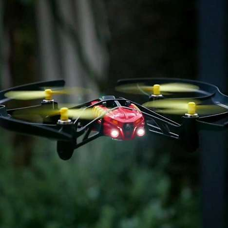 After Dark Drones - The Parrot Airborne Night Drone Has LED Lights to Keep Flying When it's Dark